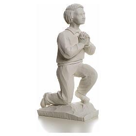 Shepherd Francis, 22 cm reconstituted carrara marble statue s2