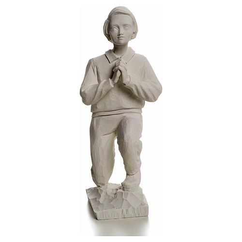 Shepherd Francis, 22 cm reconstituted carrara marble statue 1