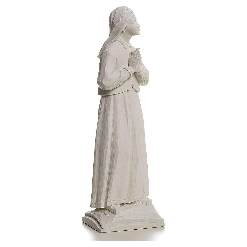 Pastorella Lucia 32 cm marmo bianco 4
