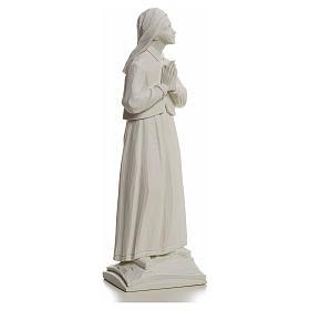 Pastorella Lucia 32 cm marmo bianco s2