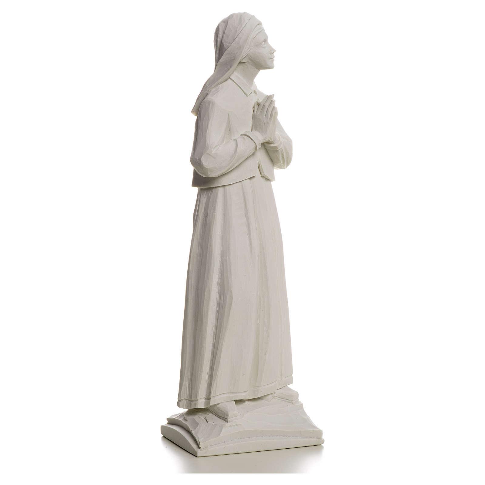 Shepherdess Lucia, 32cm composite Carrara marble statue 4