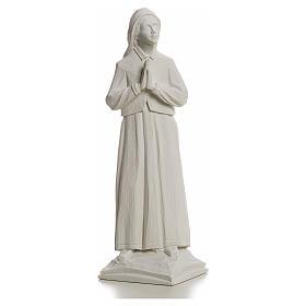 Shepherdess Lucia, 32cm composite Carrara marble statue s1