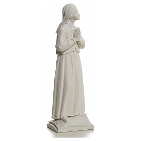 Shepherdess Lucia, 32cm composite Carrara marble statue s2