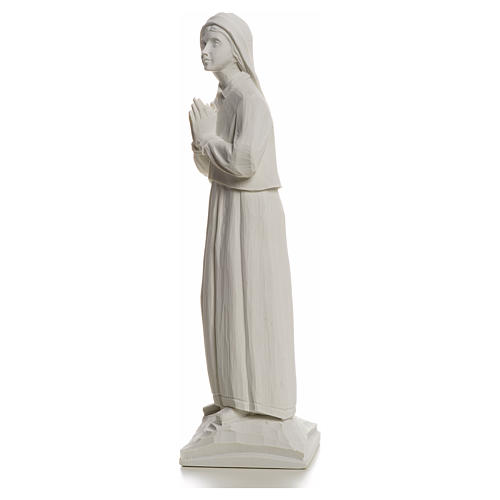 Shepherdess Lucia, 32cm composite Carrara marble statue 6