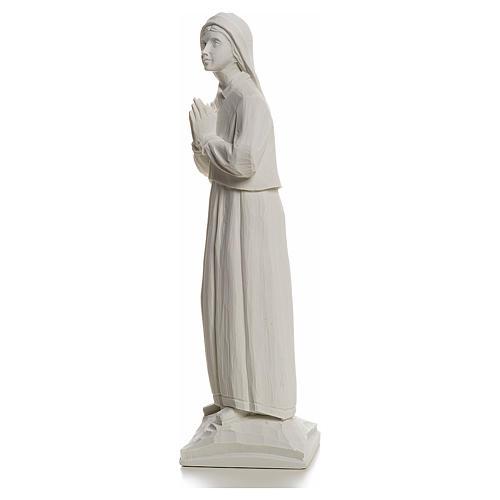 Shepherdess Lucia, 32cm composite Carrara marble statue 3
