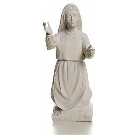 Shepherdess Jacinta, 22cm reconstituted carrara marble statue s1