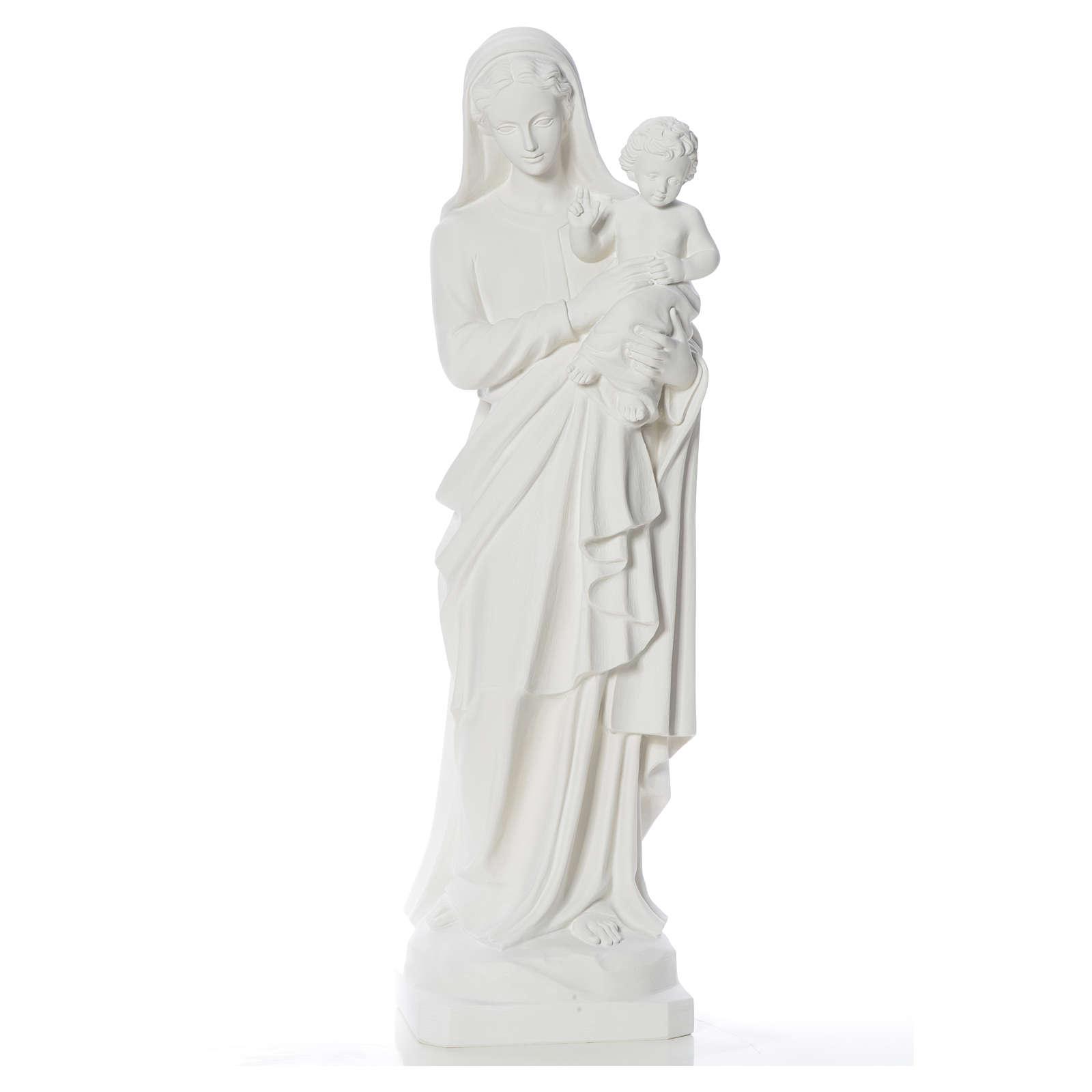 Estatua de la Virgen y el niño 100cm de mármol 4