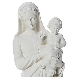 Estatua de la Virgen y el niño 100cm de mármol s10