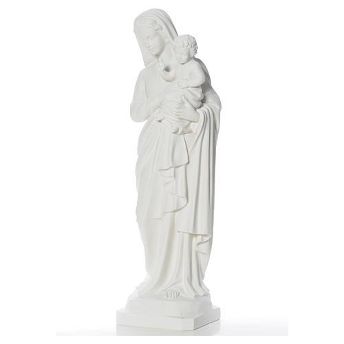 Estatua de la Virgen y el niño 100cm de mármol 7