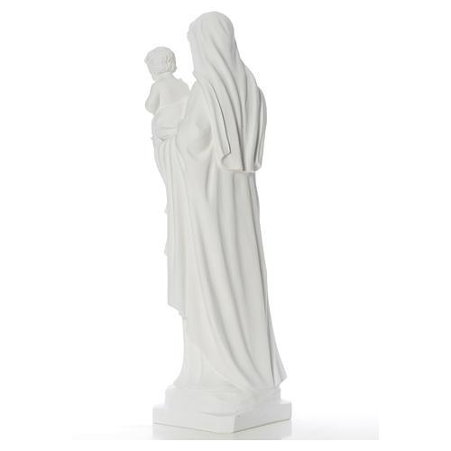 Estatua de la Virgen y el niño 100cm de mármol 8