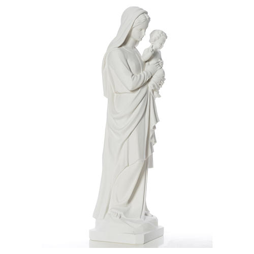 Estatua de la Virgen y el niño 100cm de mármol 9