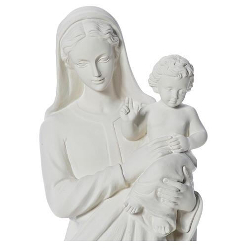 Estatua de la Virgen y el niño 100cm de mármol 10