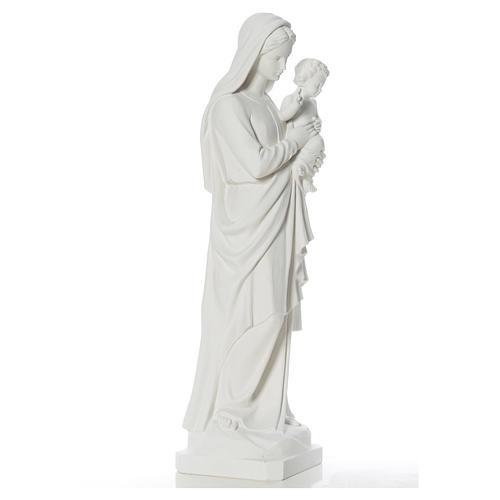 Estatua de la Virgen y el niño 100cm de mármol 2