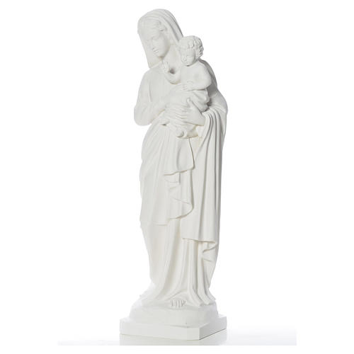 Estatua de la Virgen y el niño 100cm de mármol 3