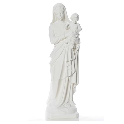 Madonna con bimbo 100 cm marmo 6