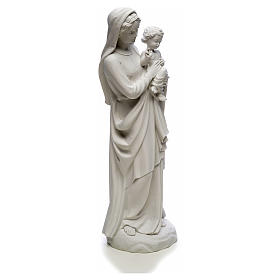 Virgin Mary and baby Jesus in reconstituted Carrara Marble, 85cm s8