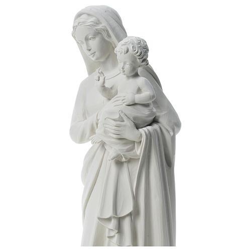 Estatua de la Virgen cargando al niño 85cm