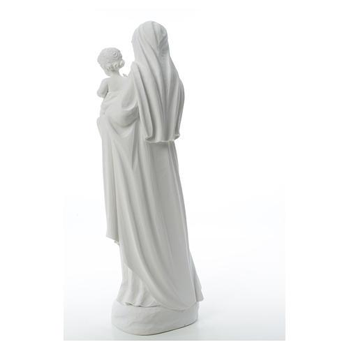 Statua Madonna con bimbo 85 cm marmo bianco 11
