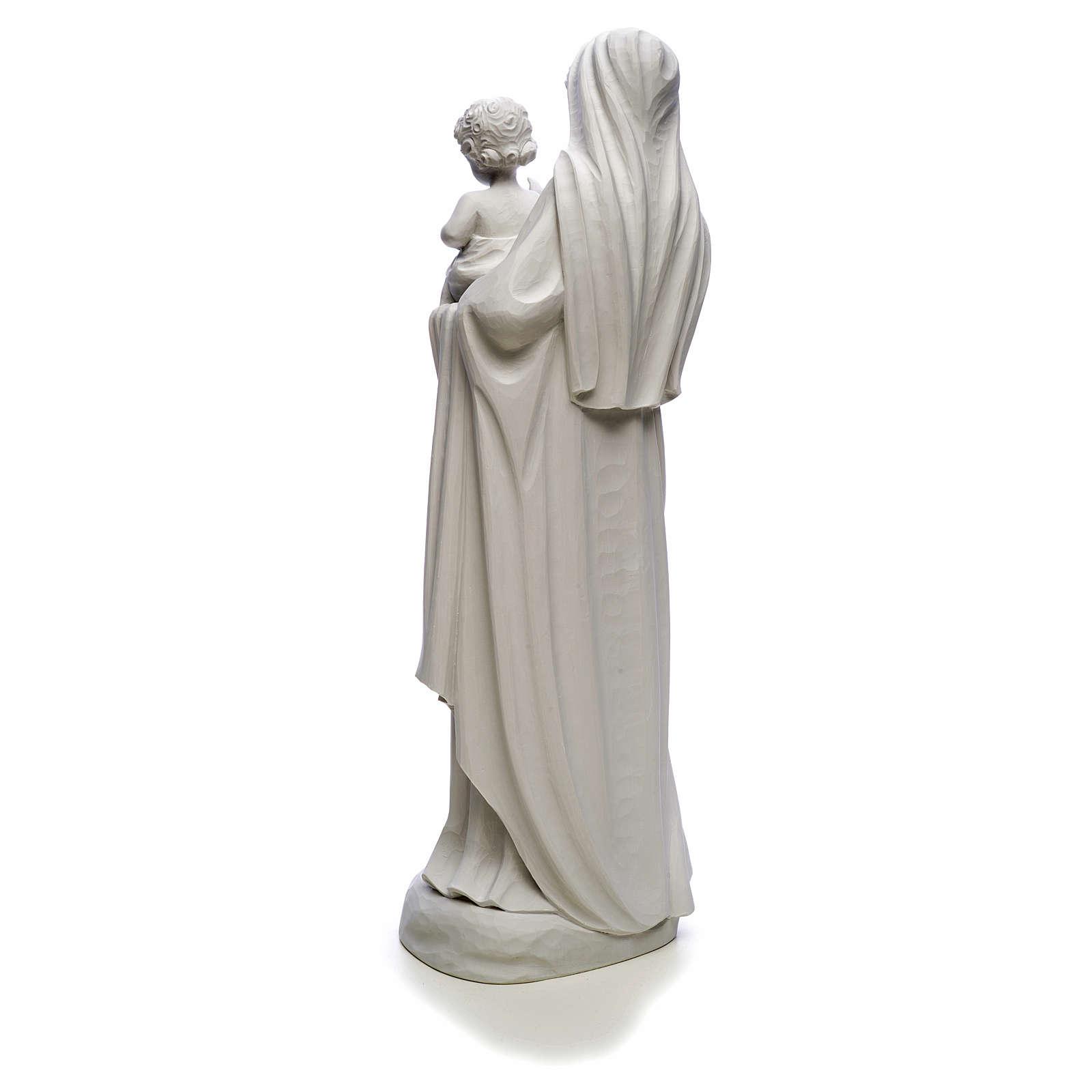 Figurka Matka Boska z Dzieciątkiem marmur biały 85 cm 4