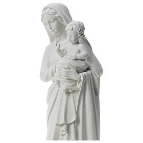 Imagem Virgem com Menino 85 cm mármore branco