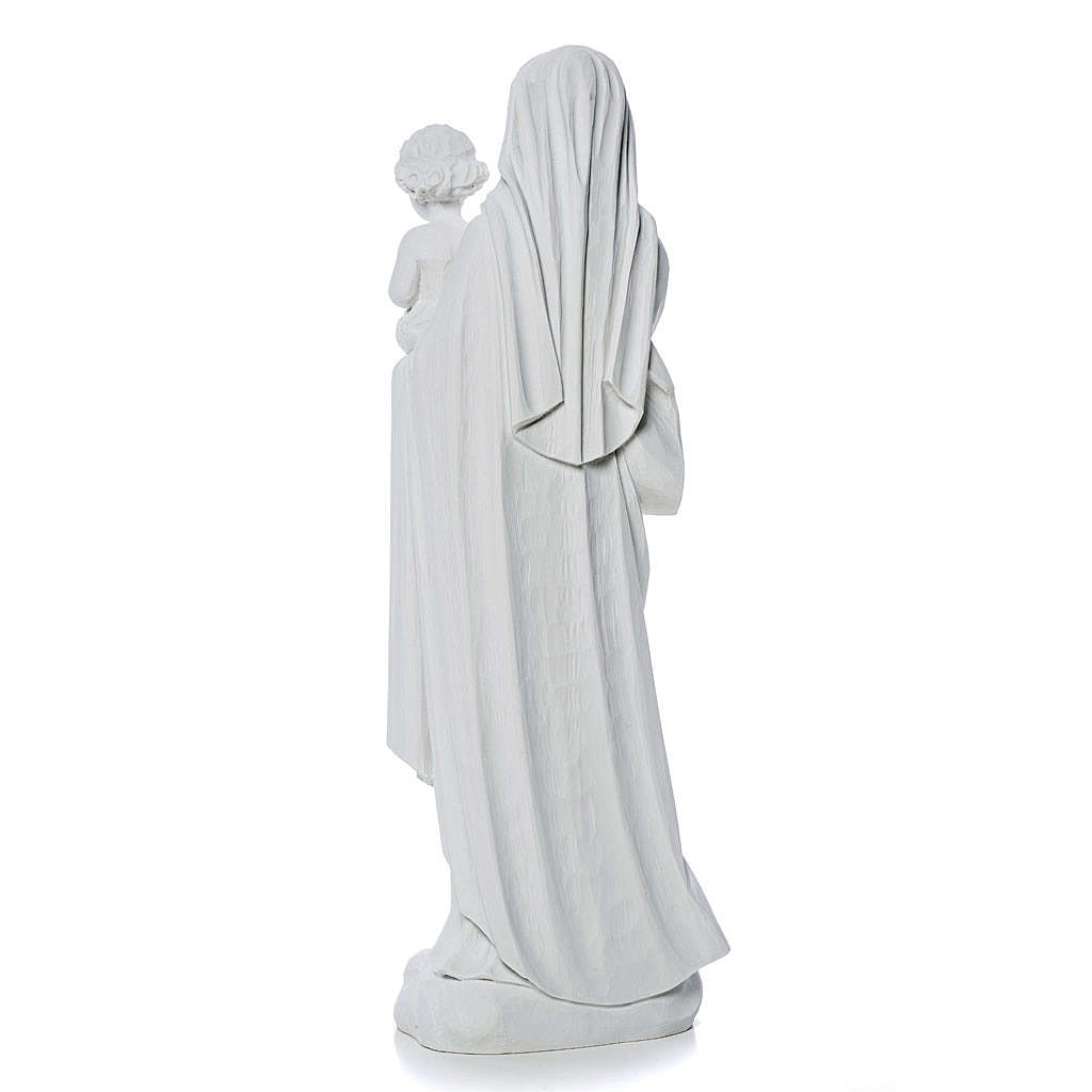 Virgin Mary and baby Jesus statue in reconstituted Marble, 60 cm 4