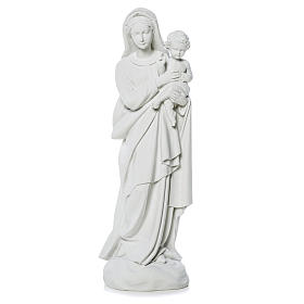 Virgin Mary and baby Jesus statue in reconstituted Marble, 60 cm s1