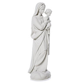 Virgin Mary and baby Jesus statue in reconstituted Marble, 60 cm s2