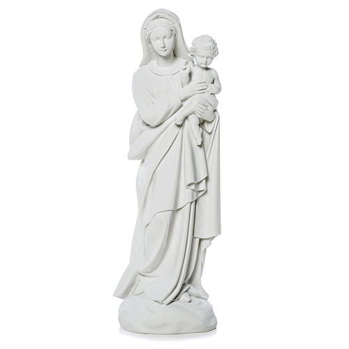 Virgin Mary and baby Jesus statue in reconstituted Marble, 60 cm 1