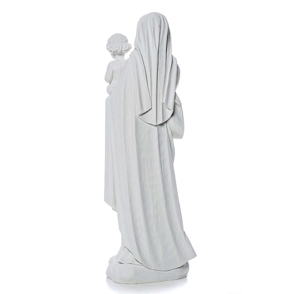 Madonna con bimbo 60 cm statua marmo 4