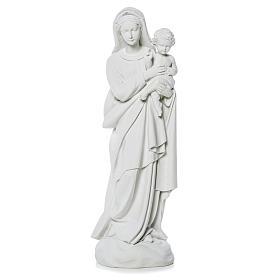 Madonna con bimbo 60 cm statua marmo s1