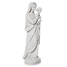 Madonna con bimbo 60 cm statua marmo s2