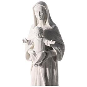 Madonna con bambino 80-110 cm marmo sintetico