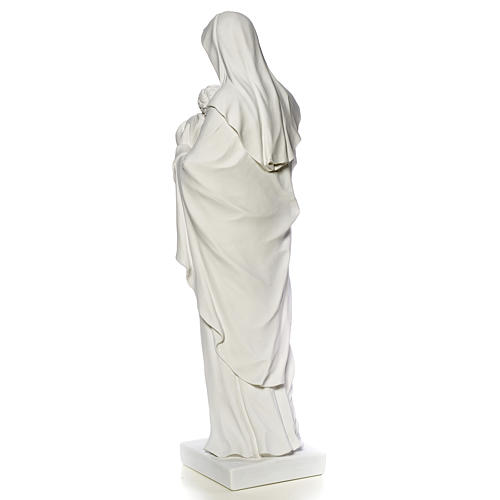 Virgin Mary and baby Jesus, reconstituted Carrara Marble, 100 cm 7
