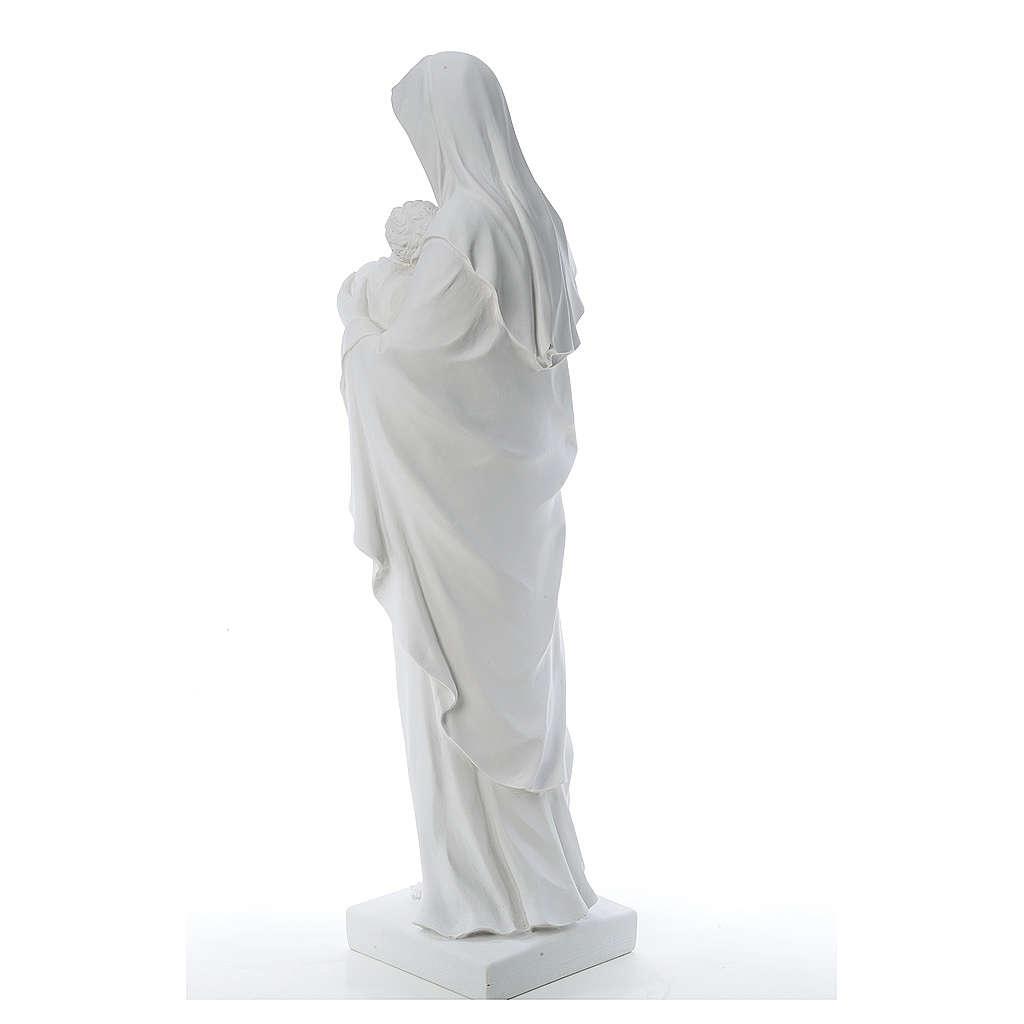 Madonna con bambino marmo sintetico bianco 100 cm 4