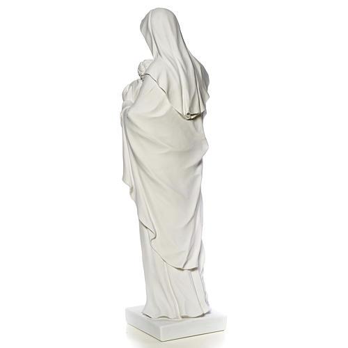 Madonna con bambino marmo sintetico bianco 100 cm 7