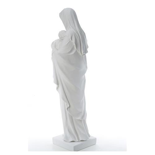 Madonna con bambino marmo sintetico bianco 100 cm 3