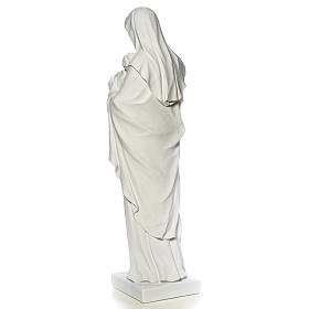 Virgin Mary and baby Jesus, reconstituted Carrara Marble, 100 cm s7