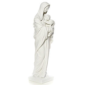 Virgin Mary and baby Jesus, reconstituted Carrara Marble, 100 cm s8