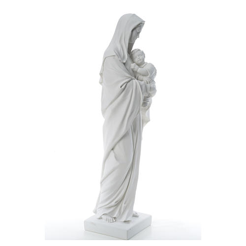 Virgin Mary and baby Jesus, reconstituted Carrara Marble, 100 cm 12