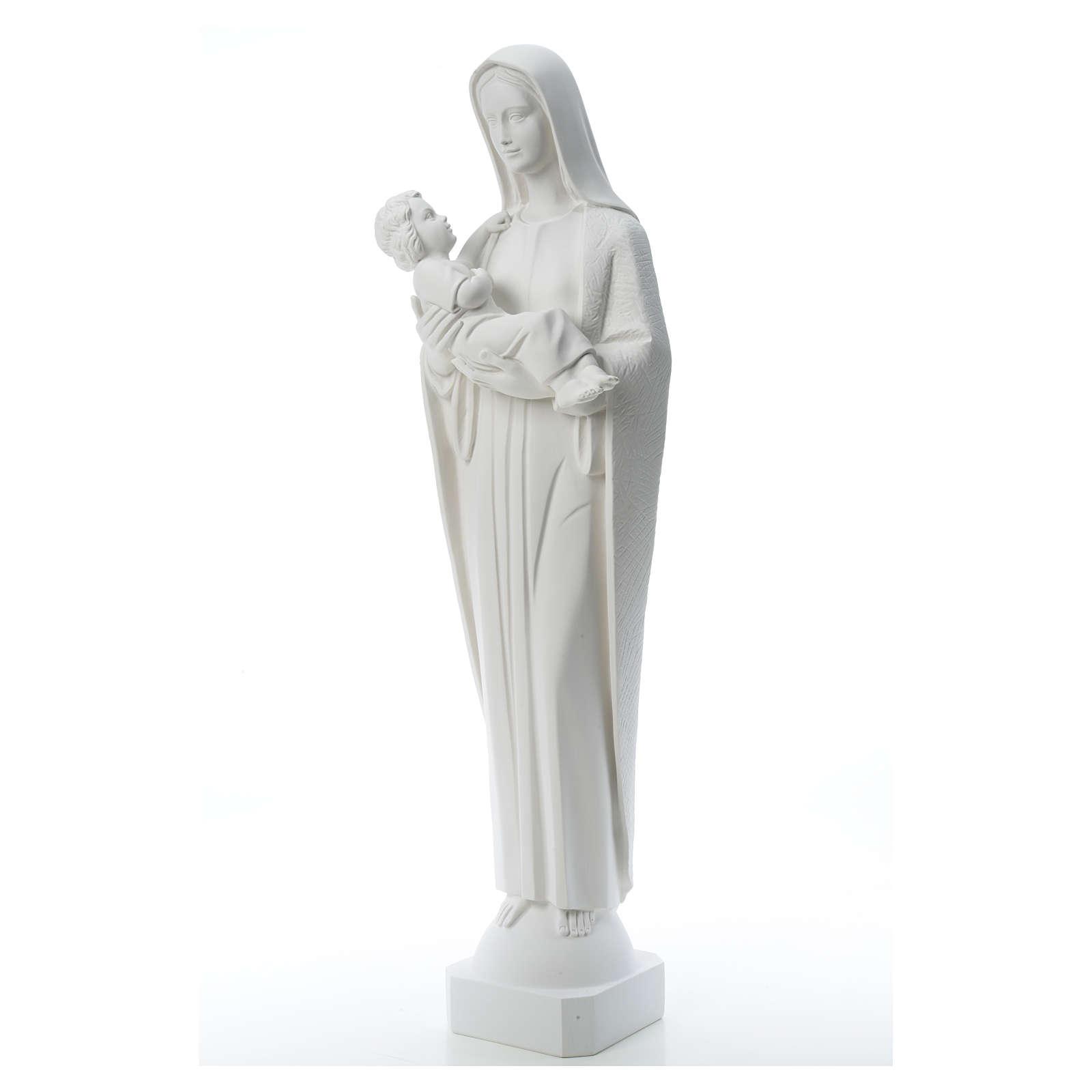 Virgen y el niño de 115cm mármol de carrara 4