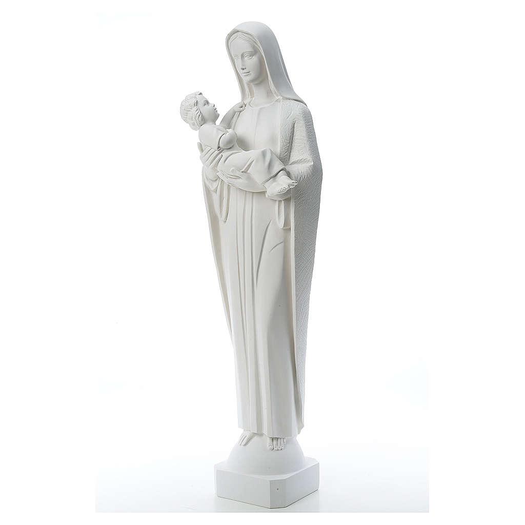 Vierge à l'enfant marbre reconstitué 115 cm 4