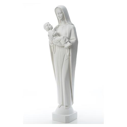 Vierge à l'enfant marbre reconstitué 115 cm 6