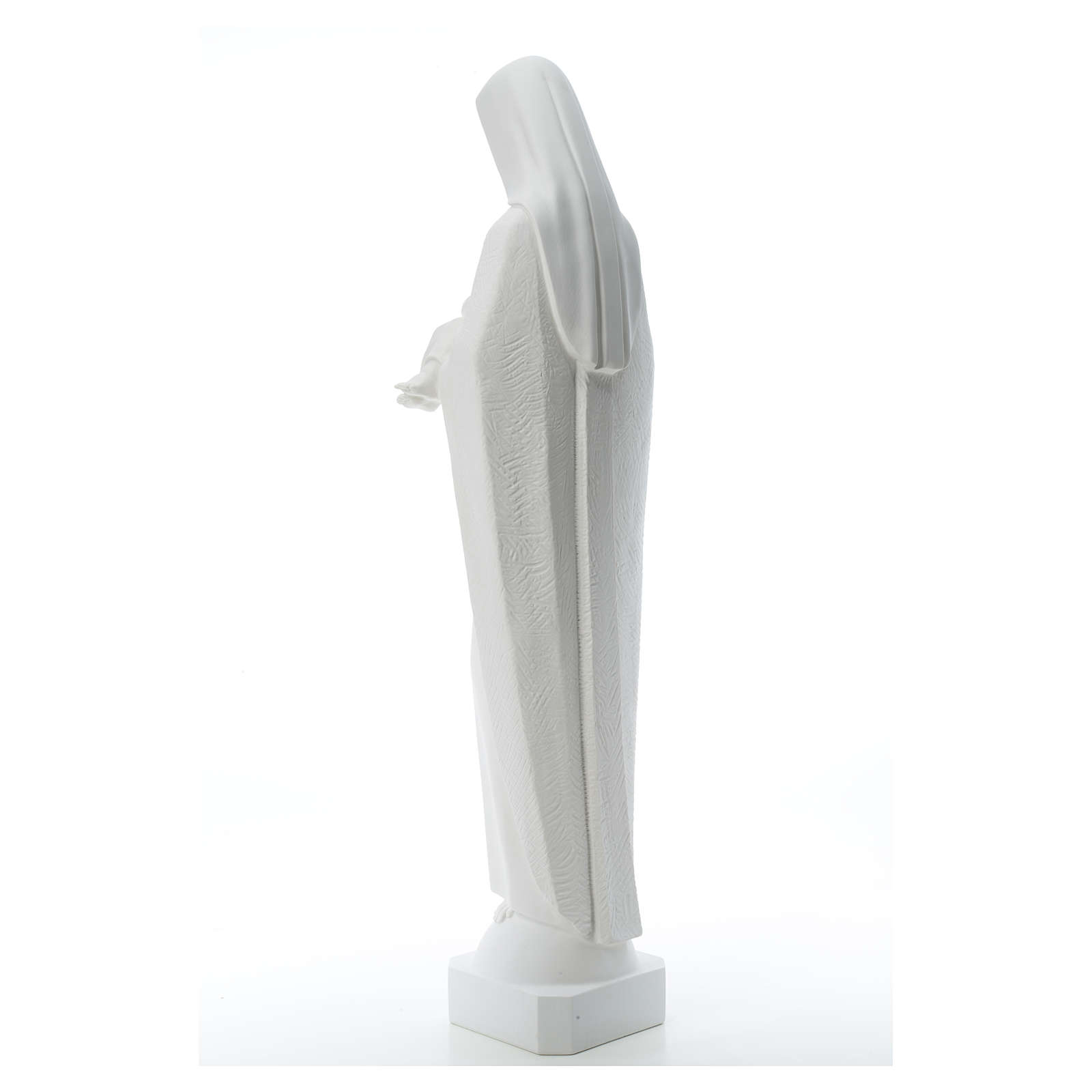 Virgin Mary and baby Jesus, 115 cm reconstituted marble statue 4
