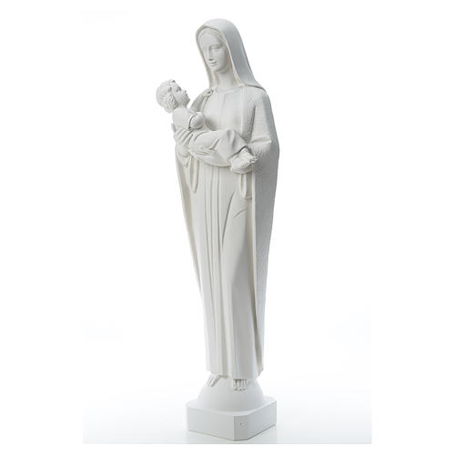 Virgin Mary and baby Jesus, 115 cm reconstituted marble statue 2