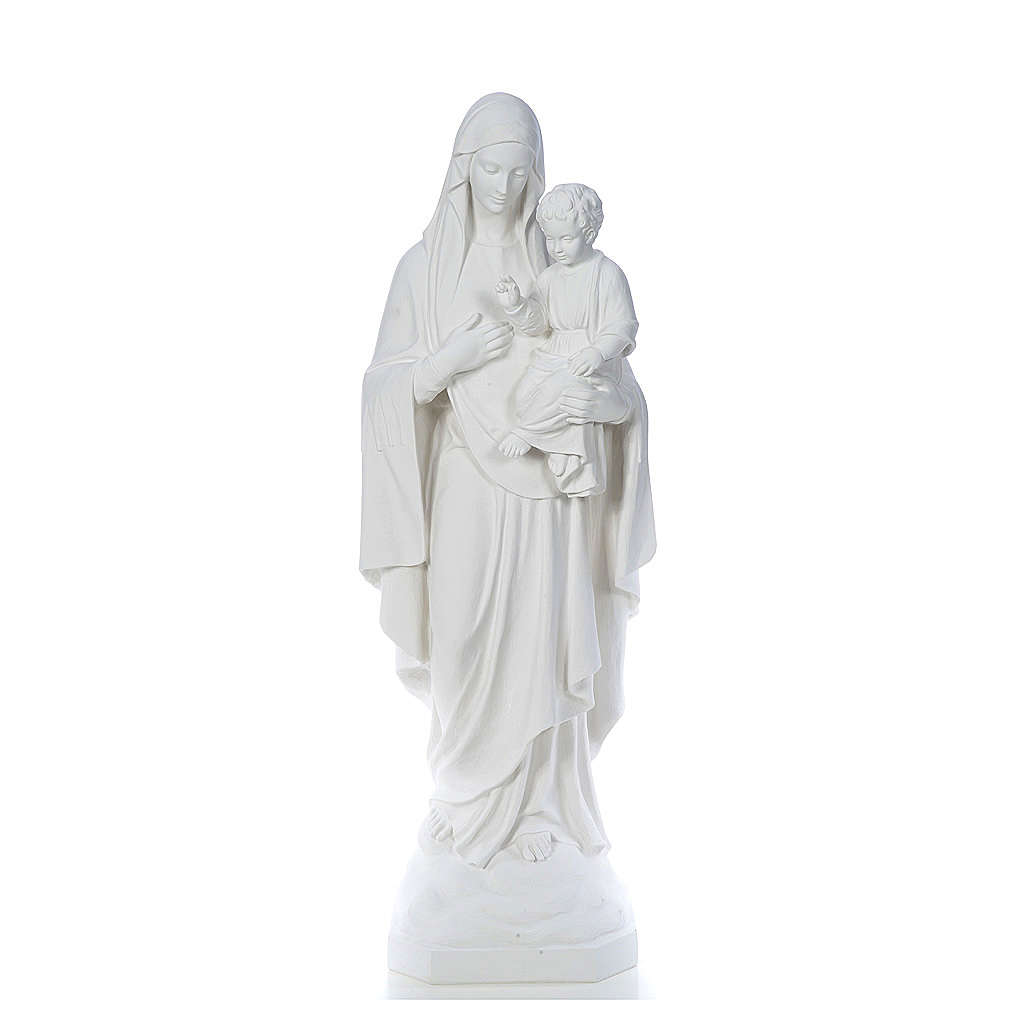 Our Lady of Consolation, 130 cm statue in reconstituted marble 4