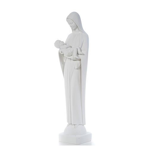 Virgen con Niño 80c, mármol blanco 2