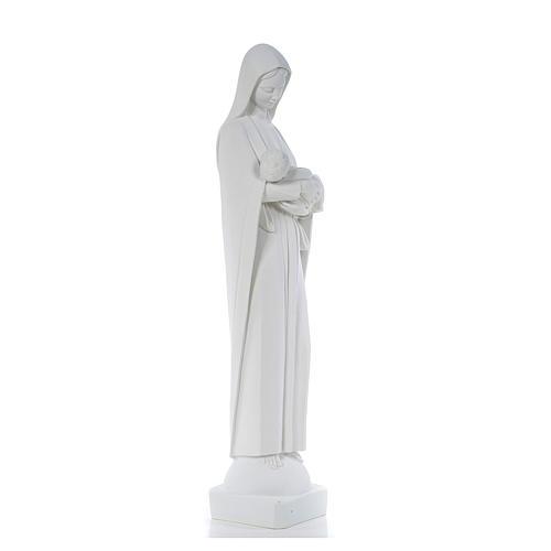 Virgen con Niño 80c, mármol blanco 4
