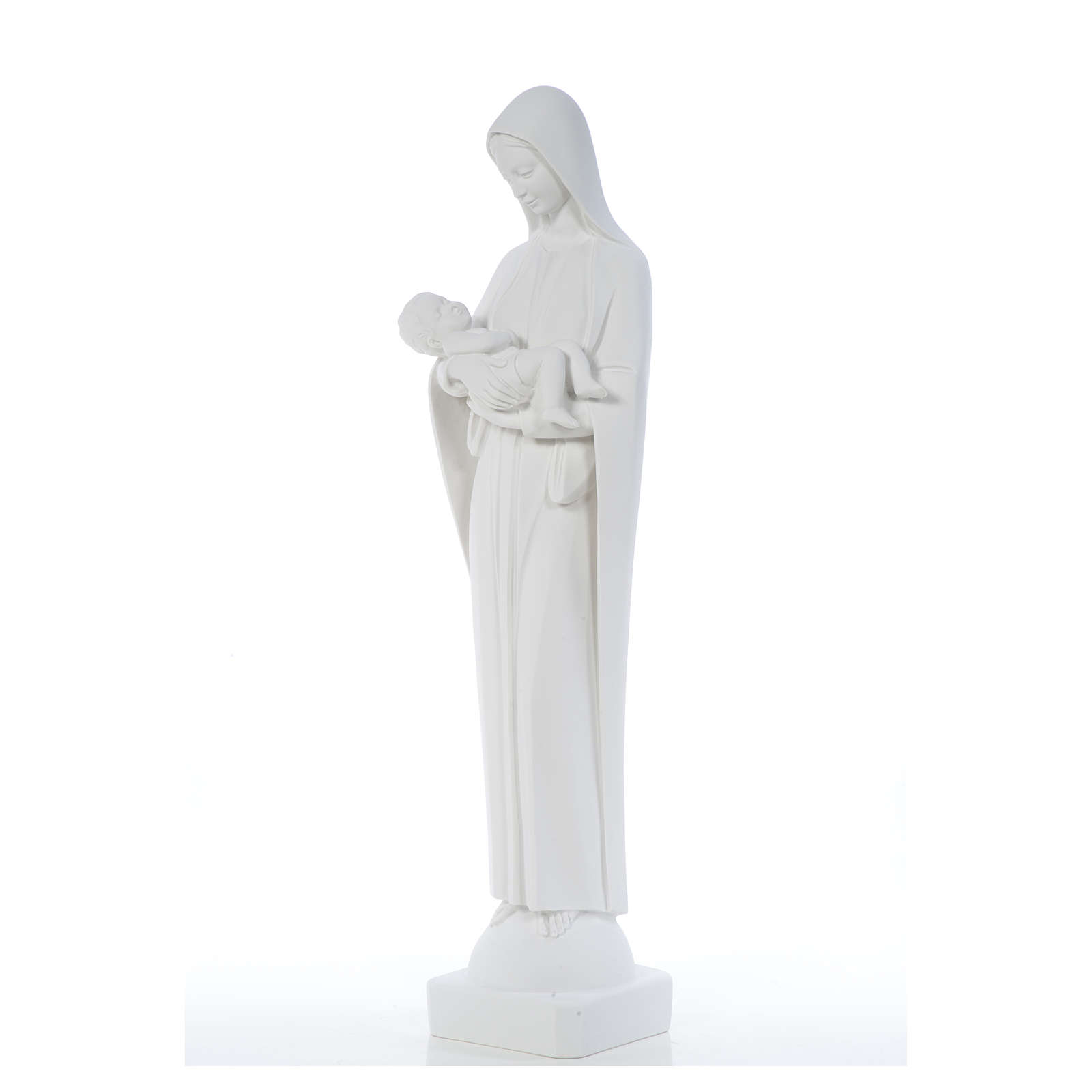 Madonna con bimbo cm 80 marmo bianco 4