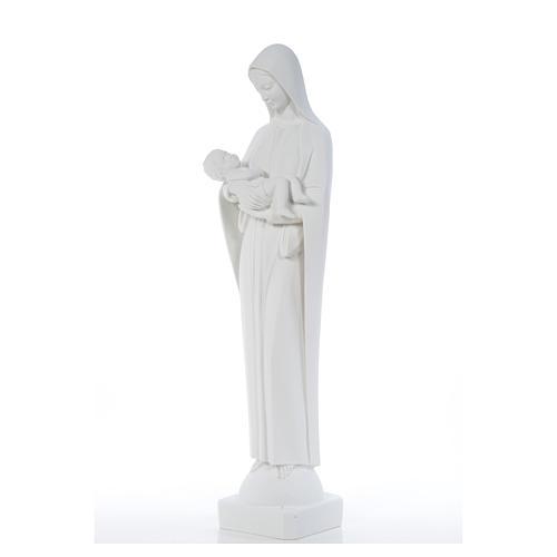 Madonna con bimbo cm 80 marmo bianco 6