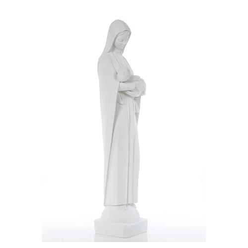 Madonna con bimbo cm 80 marmo bianco 8